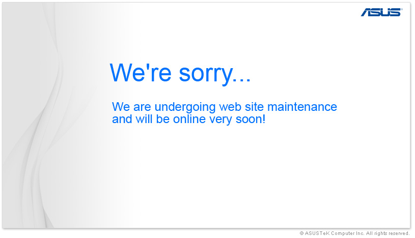 We're sorry, We are undergoing web site maintenance and will be online very soon!
